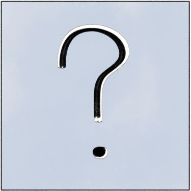 a drawing of a question mark for frequently asked questions